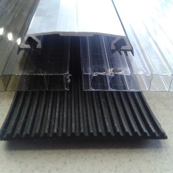 Aluminium klemprofil med gummipakninger 4