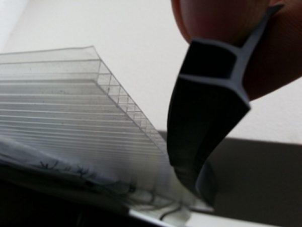 Gummipakning til 4mm og 6mm polykarbonat plater