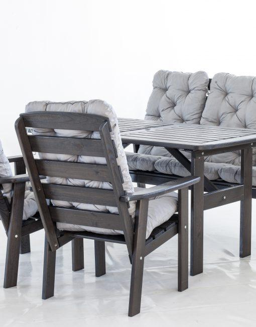 VENNA diningset (bord+benk + 2 stoler)