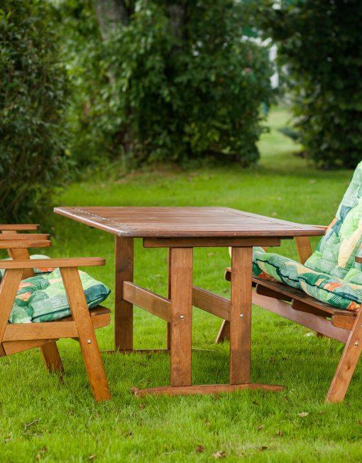 OSCAR diningset (bord+3seter benk + 2 stol)