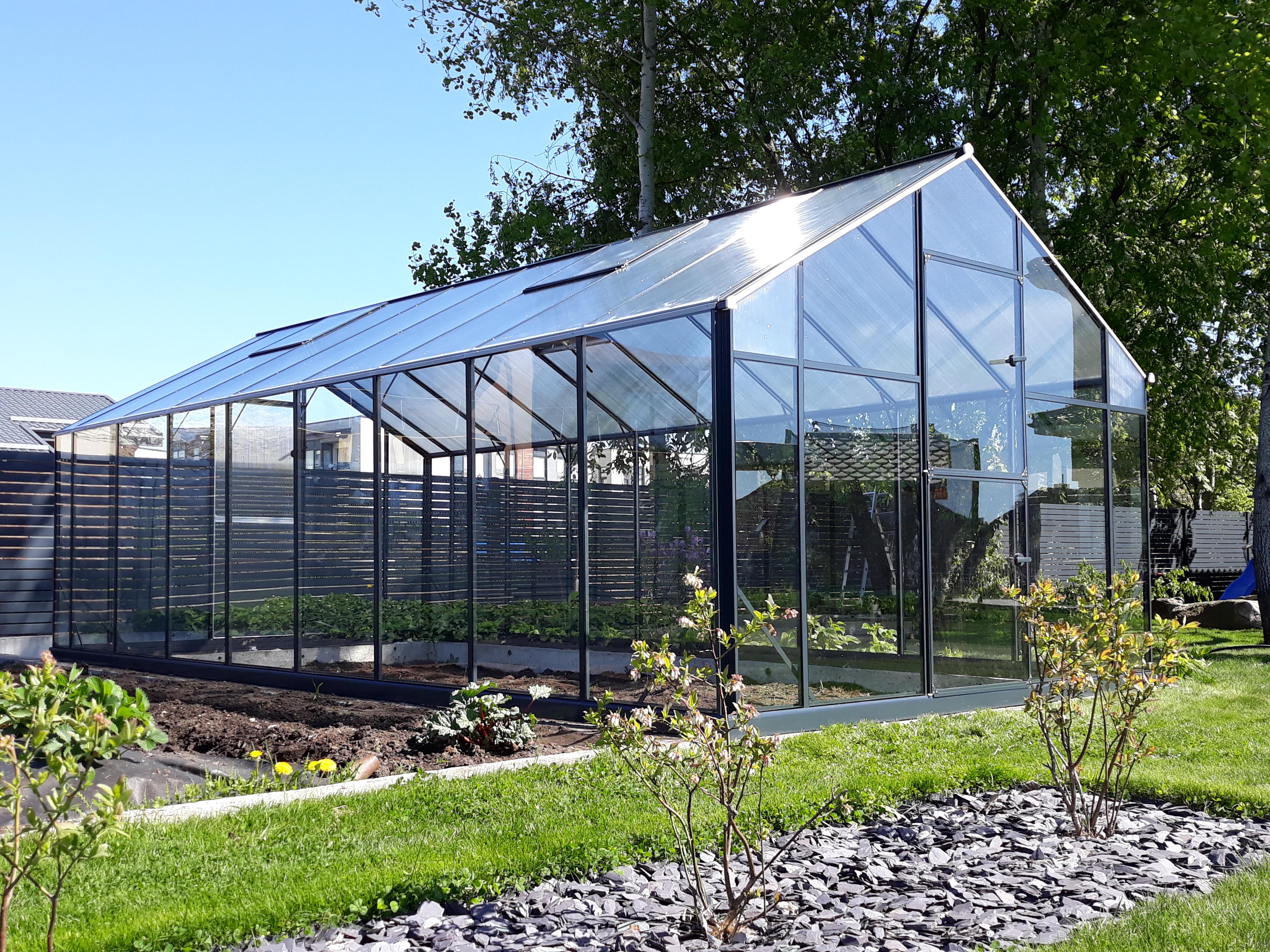 Smarte ressurser Drivhus med aluminiumkonstruksjonog glass XO-42