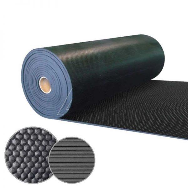 Gummigulv Med Tekstilinnlegg